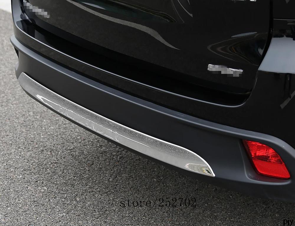 High quality ABS Chrome Rear bumper Scuff trim for 2015 2016 2017 Toyota Highlander