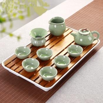 43*26*4.2cm Tea sets special set of Kung Fu Kok tea with solid tea tray wholesale tea gift