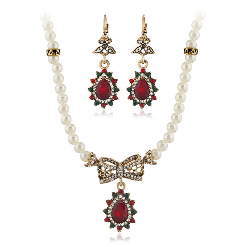 8e17dee0c51d9 Aliexpress.com : Buy Nigerian Jewelry Set for Women Turkish Gold Costume  Jewelry Statement Water Drop Colorful Necklace Earring Indian Jewellery  Gift ...