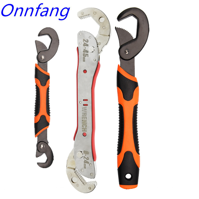 Hot Adjustable Spanner Multi function Universal Wrench Tool Home Repair Key Hand tool Multi Purpose Universal Pipe Wrench