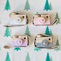 Children Cute Wooden Camera Safty and Natural Toys 5 Fashion Color Choose Toy Camera Best Christmas New Year Gift