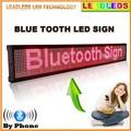 30x6.3 polegadas display Led indoor Bluetooth Programável Rolagem Mensagem levou Placa do sinal para o Negócio e Armazenar-Vermelho mensagem