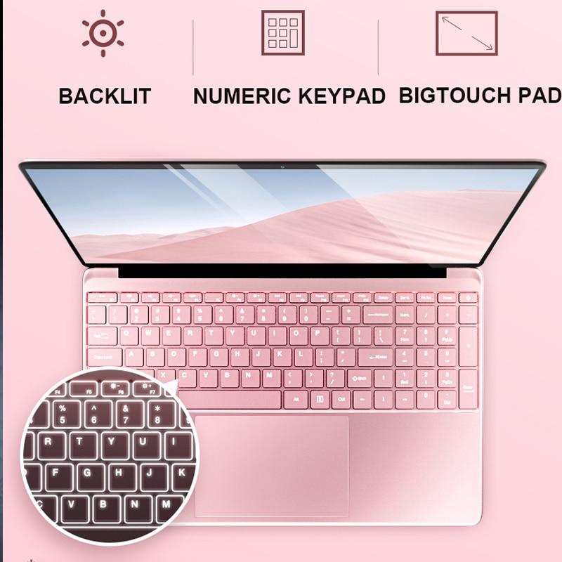 15.6' Metal Backlit Laptop 8G RAM DDR3 1TB 512G 256G 128G SSD Gaming Laptop Ultrabook Intel Quad Core Win10 OS Notebook Computer 3