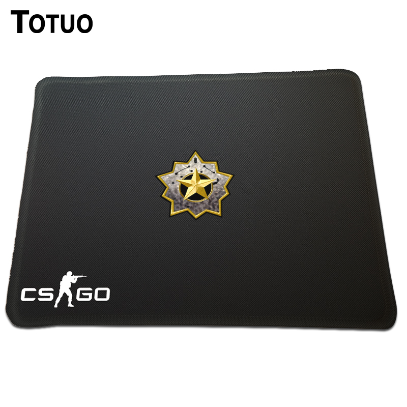 New Style CS GO Distinguished Master Guardian Rank Logo Mousepad Rectangle Gaming Mice Mat Rubber Computer Optical Mouse Pad