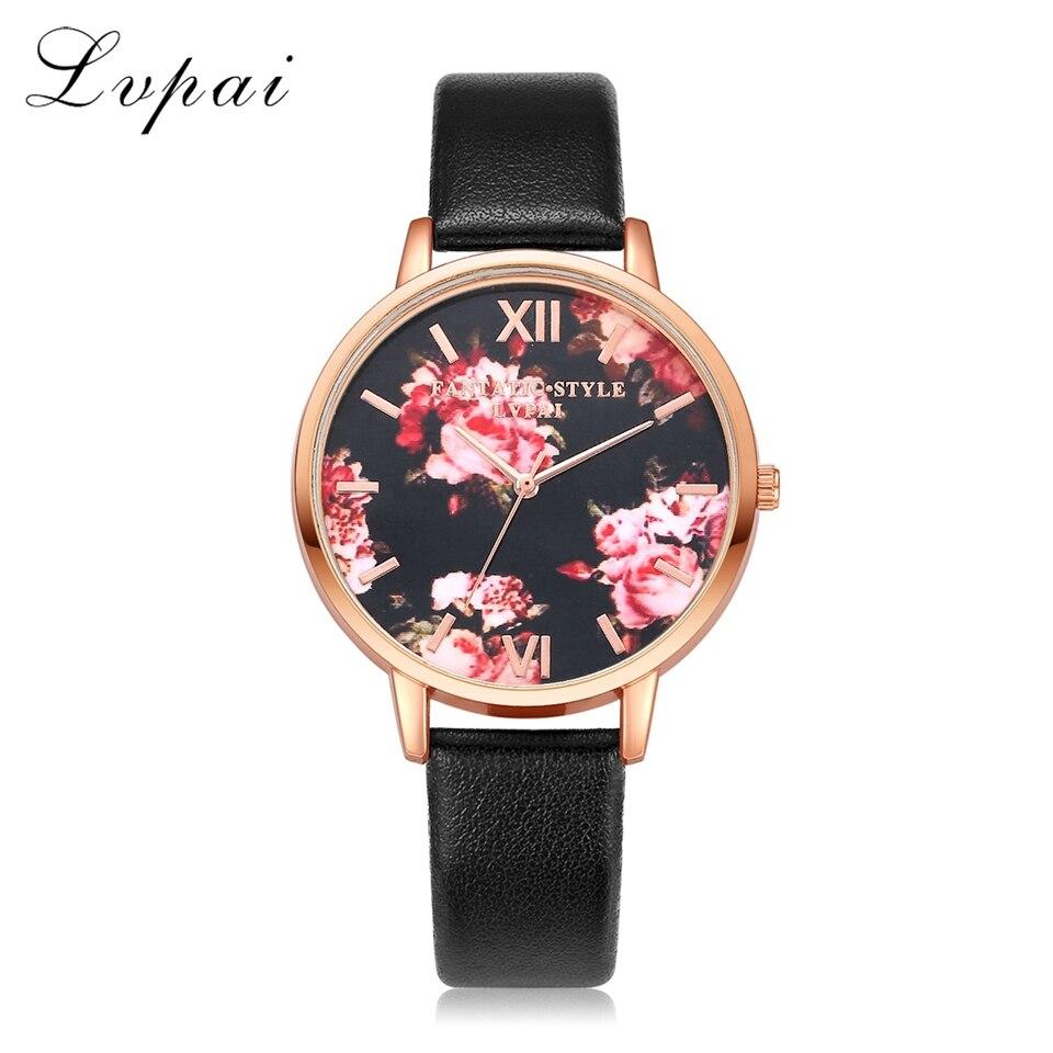 Qualité supérieure bracelet cuir tendance Rose montre en or pour femme décontracté Amour Coeur Quartz montre-bracelet robe pour femme Dames montres de luxe