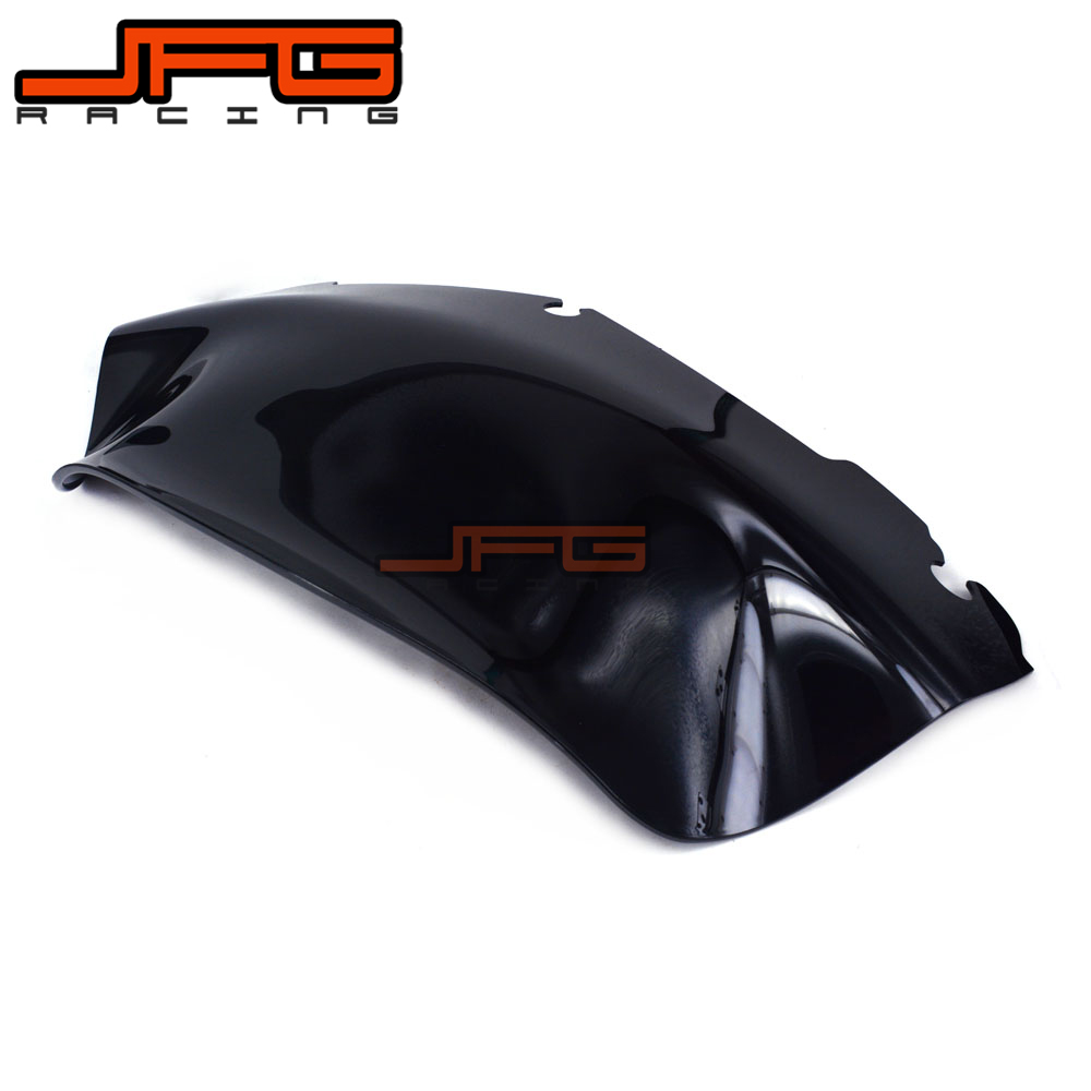 Black Windscreen Windshield for Harley Touring FLHT CVO FLHX FL 2014 2015 2016 14 15 16 Motorcycle areyourshop windshield bag saddle 3 pouch pocket fairing for harley touring bike 1996 2015 black motorcycle covers