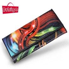 BVLRIGA Echtem leder Frauenmappen Markendesign Hohe Qualität Brieftasche Weibliche Mode frauen kupplungen Lange Brieftaschen großer kapazität