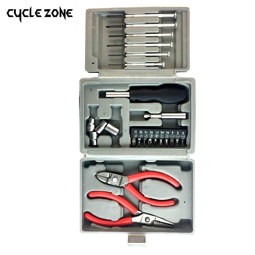24Pcs Screwdriver Pliers Hand Tools Set Multifunctional Universal Car Electrical Household Repairing Portable Emergency Toolbox