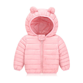 Newborn Baby Girl Clothes Down Cotton Black Hooded Winter Coat Baby Boy Clothing Fashion Baby Snowsuit Overalls