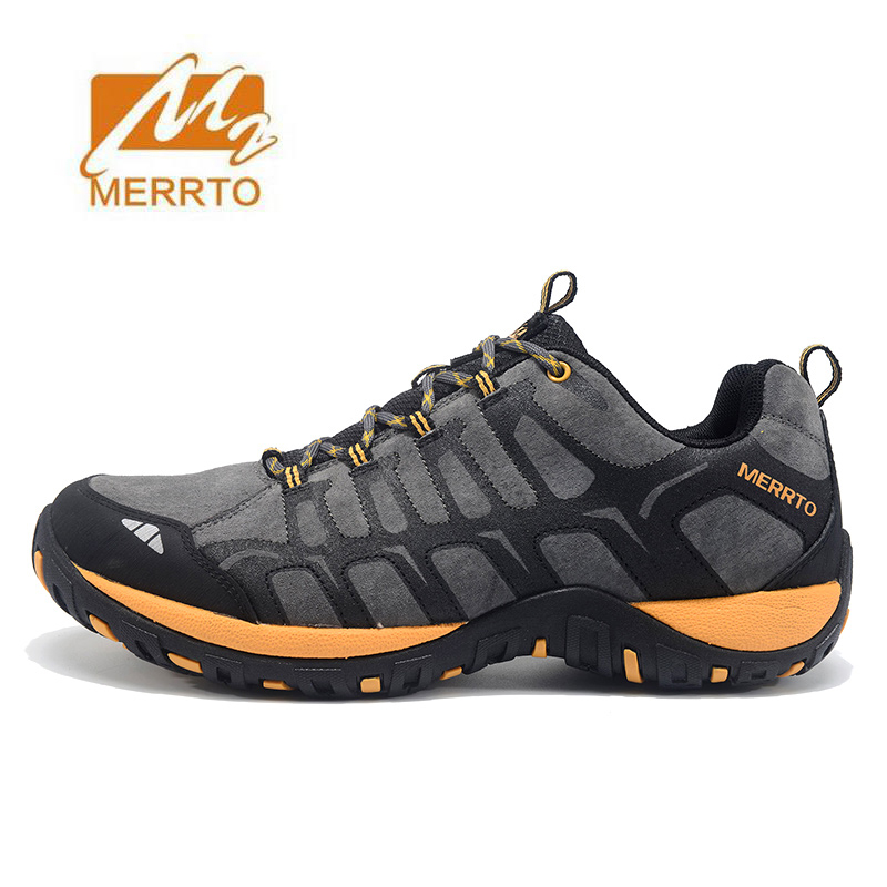 MERRTO Men's Sports Leather Outdoor Hiking Trekking Shoes Sneakers For Men Wearable Climbing Mountain Shoes Man Senderismo купить