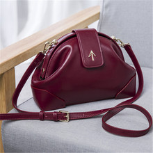 2016 Brand Women genuine leather handbags Arrow Shell Bags Purse High Quality Cowhide Fashion Small Shoulder Crossbody Bags