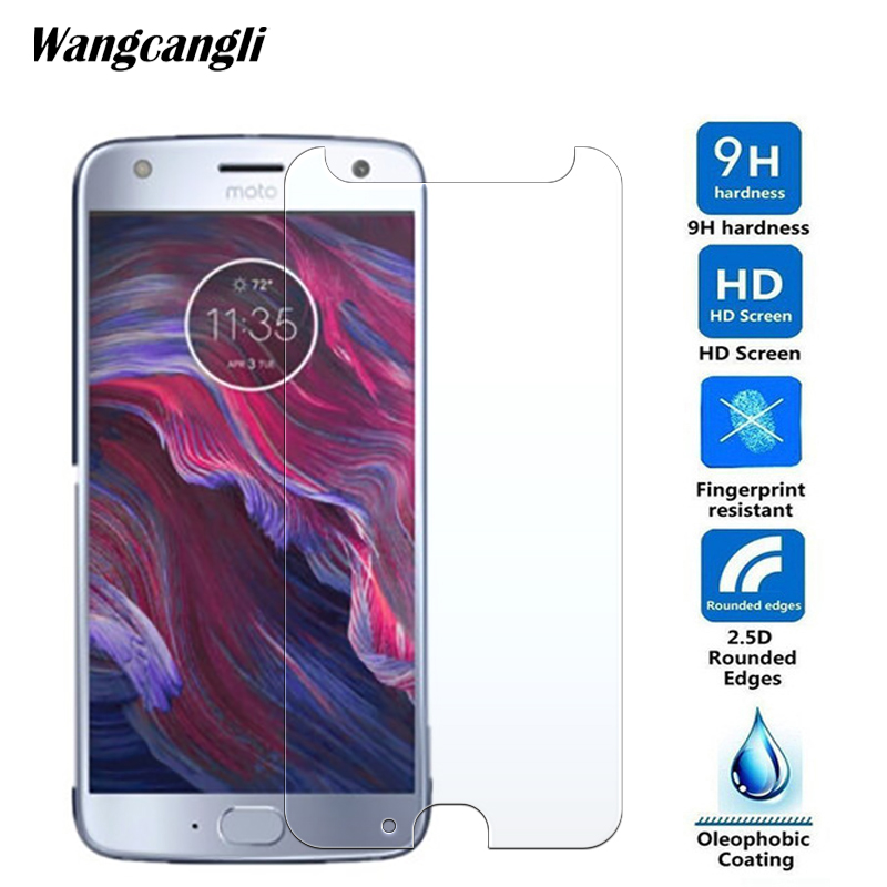 Wangcangli 2.5D Tempered glass For Motorola X4 phone protective film 0.3mm Ultra-thin screen protector