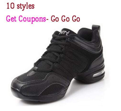 Hot Sale Women Air Mesh Sports Dancing Sneakers Shoes Women's Line Dance Shoes Platform Girls Dancing Shoe Black White On Sale