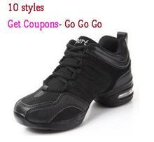 Лидер продаж женские Air Mesh Спортивные Танцы Кроссовки Обувь Женская линия Обувь для танцев на платформе для девочек Танцы обуви черный, белый цвет на продажу