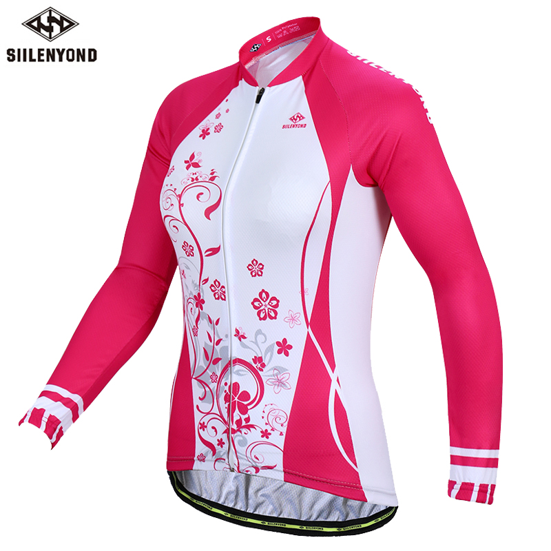 Siilenyond 2019 Women Pro Winter Keep Warm Cycling Jersey Thermal Fleece Mountain Bike Cycling Clothes Cycling Clothing 1