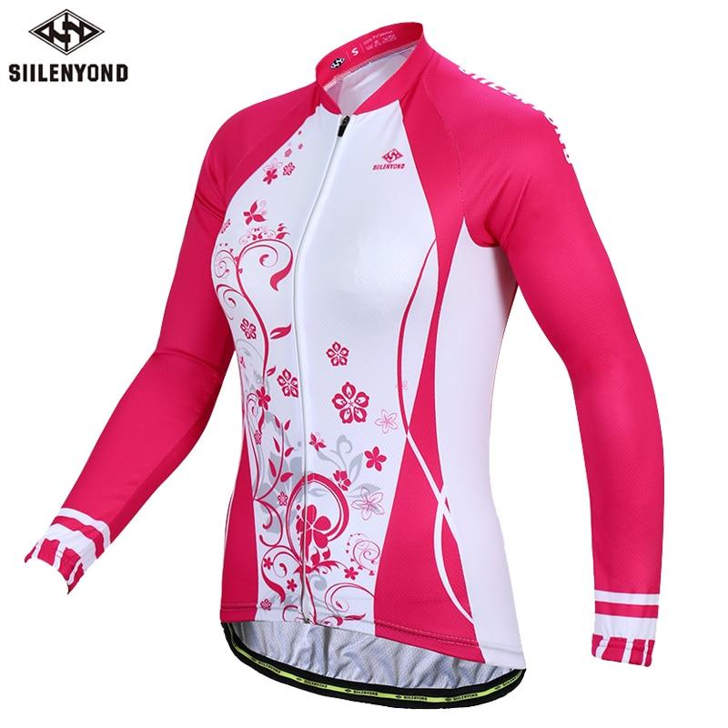 Siilenyond 2019 Women Pro Winter Keep Warm Cycling Jersey Thermal Fleece Mountain Bike Cycling Clothes Cycling Clothing 1