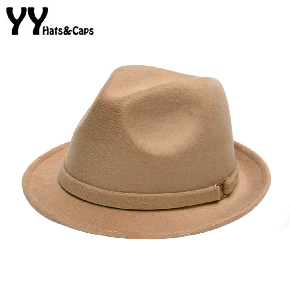 0accc55789136 Retro Wool Fedoras Hats for Women Men Winter Felt Hat Autumn Panama Trilby  Jazz Cap Mans Fedoras Hat Sombreros 6 Colors YY60528-in Fedoras from  Apparel ...