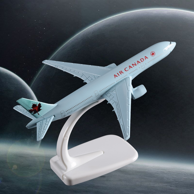 16cm Boeing 777 Air Canada Airplane Model Alloy Static Aircraft Model Canadian Boeing 777 Airways Airbus Model Gift Souvenir Toy