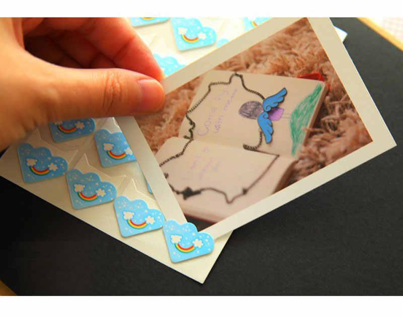 חמוד Cartoon דפוס פינות עבור תמונות פינת מדבקות להגן על תמונות DIY בעבודת יד רעיונות תינוק אלבום תמונות אביזרי