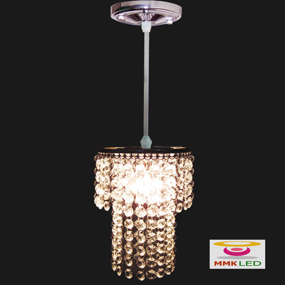 Single head crystal chandeliers restaurant bedroom hallway single head crystal chandeliers restaurant bedroom hallway lighting lamps modern minimalist small chandelier hanging lights in pendant lights from lights mozeypictures Image collections