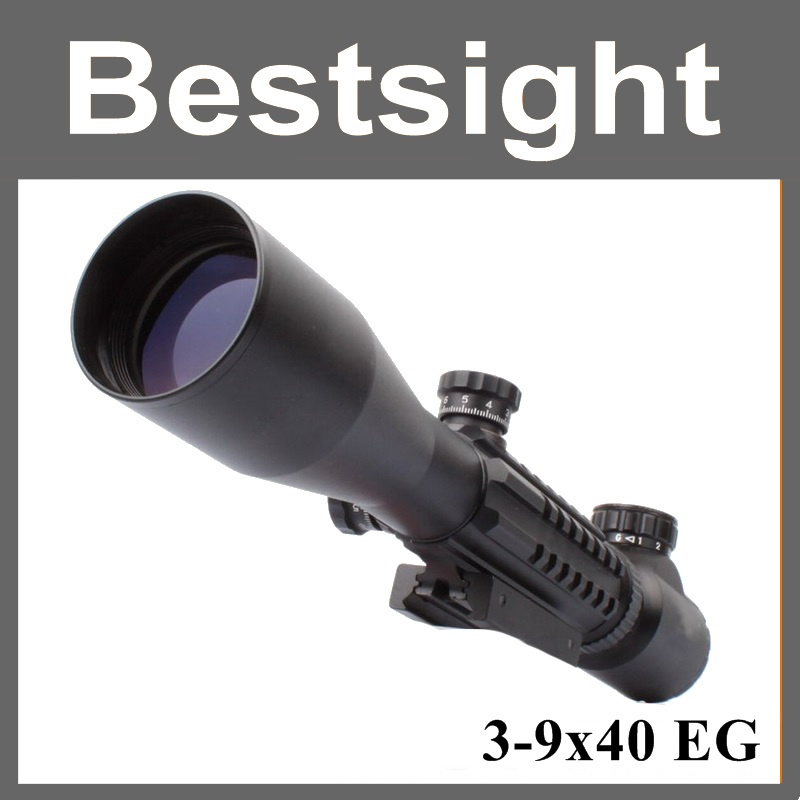 Tactical Sniper Scope AR15 AR10 223 308 Hunting Riflescope 3 9x40 Optical Telescopic Sight Aiming Device