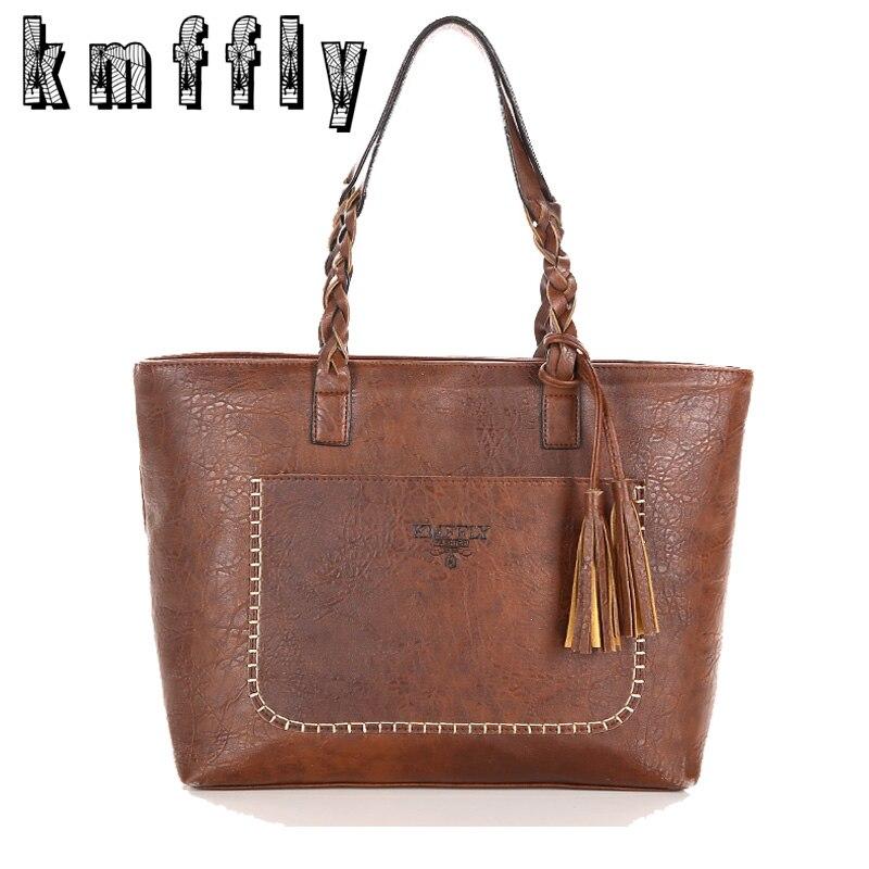 2016 New Women Messenger Bags With Tassel Famous Designers Leather Handbags Large Capacity Women Bags <font><b>Shoulder</b></font> Tote Bags bolsos