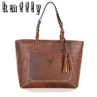 2016 New Women Messenger Bags With Tassel Famous Designers Leather Handbags Large Capacity Women Bags Shoulder