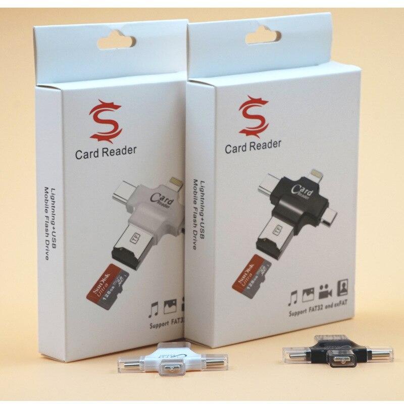 Häufig 4 in 1 Type c/Lightning/Micro USB/USB 2.0 Memory Card Reader Micro  QI25