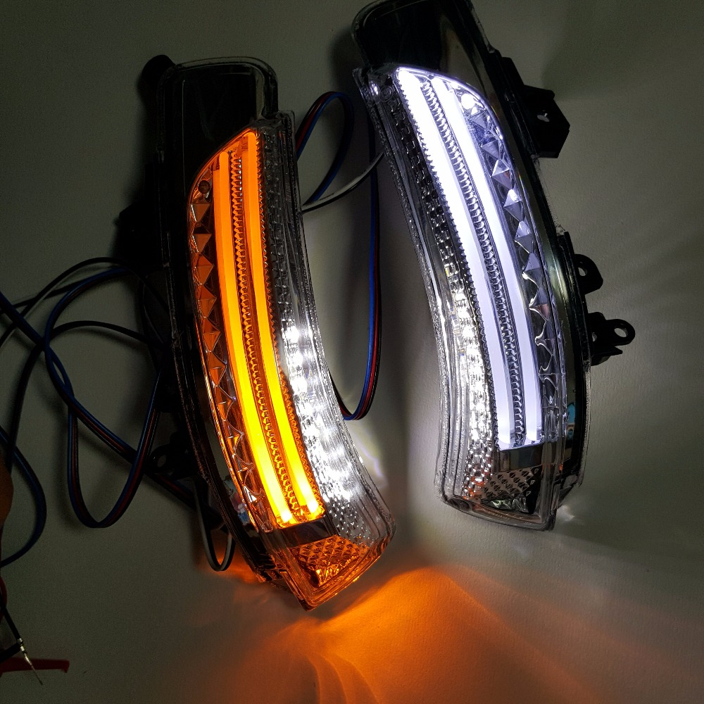 Rearview rear view mirror LED turn signal light corner side lamp for Toyota Wish PrIus Crown Reiz 2011 2012 2013 2014 cafoucs led rearview side mirror turn signal lights mirror lamp for toyota prius reiz wish mark x crown avalon