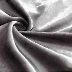 Aksamitna miód luksusowe poliester tkaniny zasłony okna błyszcząca twarz rolety zaciemniające niestandardowy rozmiar dla pokoju gościnnego srebrny szary kolor w Zasłony od Dom i ogród na