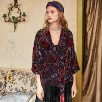 containing real silk velvet rotten seven cent bat sleeve with cardigan shirt shawl lady autumn