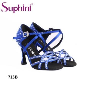 8.5cm Flare Heel New Type Salsa Woman Dance Shoes Handmade Latin Dance Shoes