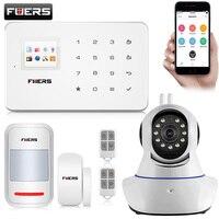FUERS G18 Беспроводной GSM сигнализация системы безопасности Главная IOS/Android APP пульт дистанционного Управление сигнализация с ПИР движения двер