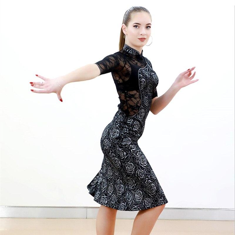 lace Chinese cheongsam salsa dance dresses women latin dress ballroom tango dresses rumba dress latin dance costumes dance wear