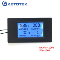 4 In 1 Digital Voltage Current Power Energy Monitor DC 6 5 100V 100A LCD Display