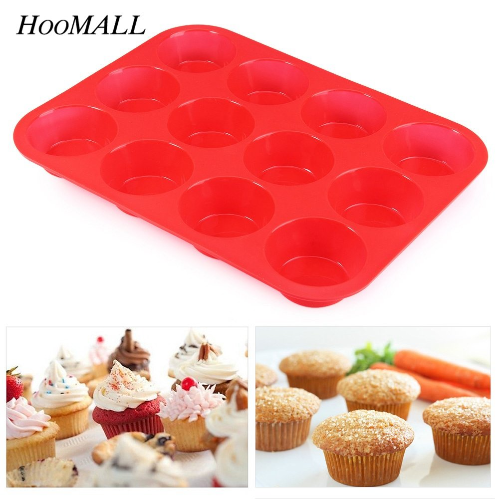 12Grids Bakeware Lattices Silicone Mold Cake Fondant Cupcake Cake Decorating Tools Kitchen Accessories Forms For Cookies