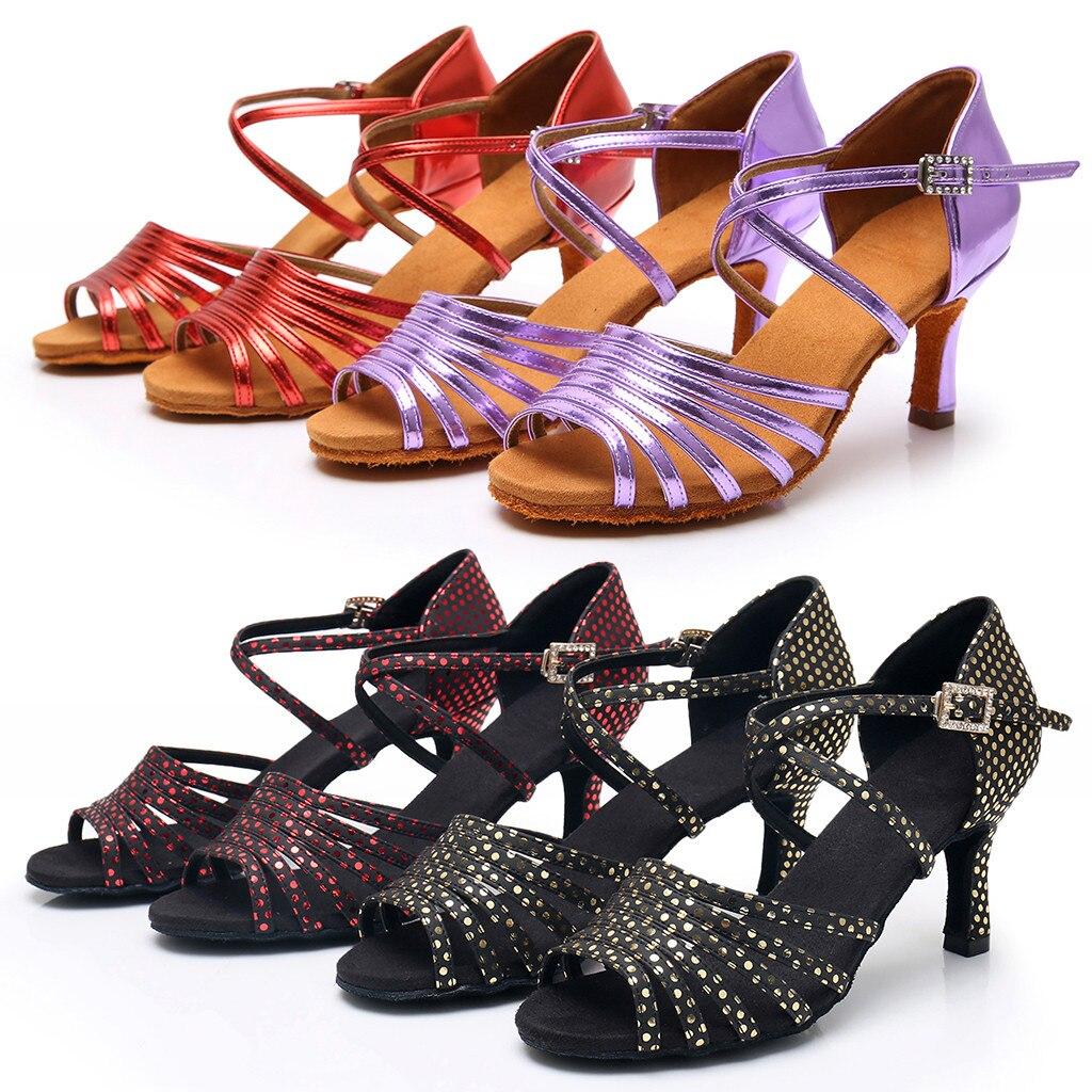 MUQGEW Sandals Shoes Salsa Latin Rumba Prom-Ballroom Waltz Dancing