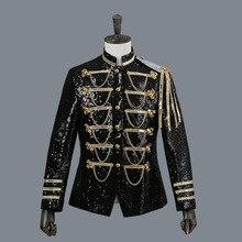 男性のスーツのジャケット裁判所ドレスperformence男性のタキシードショースパンコール銀白黒赤メンズブレザージャケットシングルブレスト