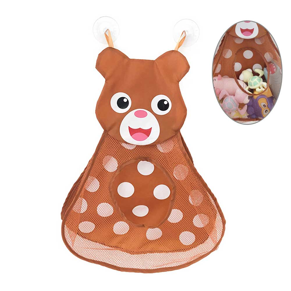 Baby Bath Toys Deer Showers Storage Bag Large Mesh Beach Bath Portab Foldable Bag Kids Shower Games Baby Doll Water Toys Games
