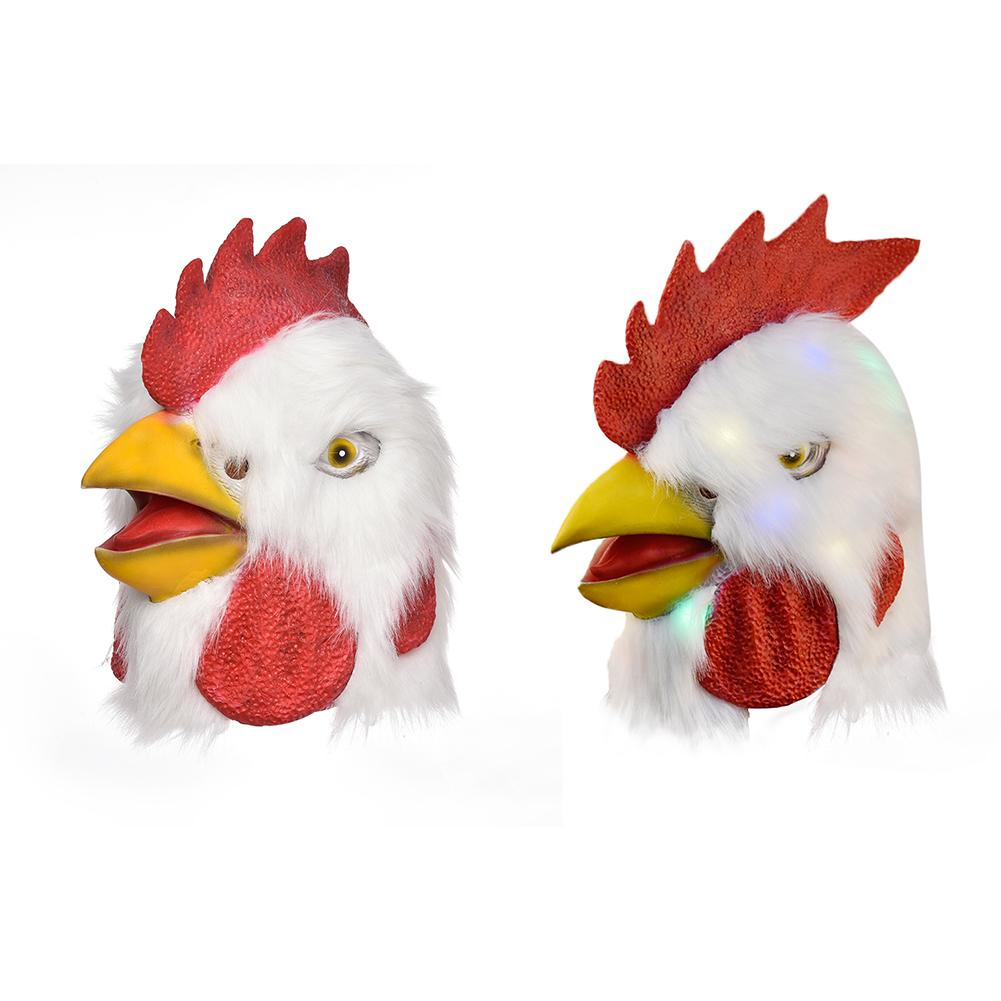 Plush Rooster Mask Animal Head Cover Halloween Costume Party Props Rooster Mask Party Decoration in Party Masks from Home Garden