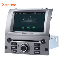 "Seicane 7 ""8 core Android 8,0 Car DVD Radio Bluetooth navegación GPS para 2004-2010 Peugeot 407 con WiFi AUX soporte SD OBD DAB(China)"