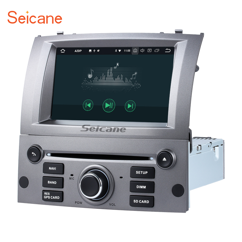 Seicane 7 8 core Android 8,0 dvd-радио Bluetooth gps навигации для 2004-2010 peugeot 407 с wi-Fi AUX поддержка SD OBD DAB