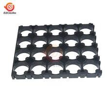 1 шт. черный пластик 18650 Держатель батареи кронштейн 4x5 ячеек прокладка радиальная подставка пакет пластиковые тепло литиевые батареи держатель