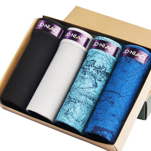 Siriusha The four gift box  men's underwear men's summer ice feeling sexy U Pants four convex angle