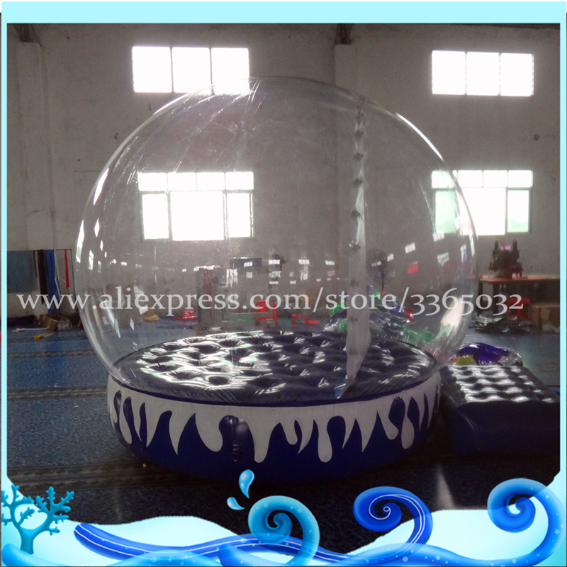 Super Quality!!!Giant Inflatable Snow Globe,custom snow globe,inflatable human size snow globe