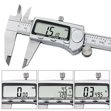 Promo offer NEW Electronic Digital Caliper Inch Metric Fractions Conversion 0-6 Inch 150 mm Stainless Steel Body Extra Large LCD Screen