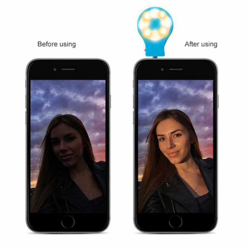 Beautify Skin LED Selfie Ring Light with Built-in Rechargeable Battery Photography flash lamp for iPhone Phone Front Camera