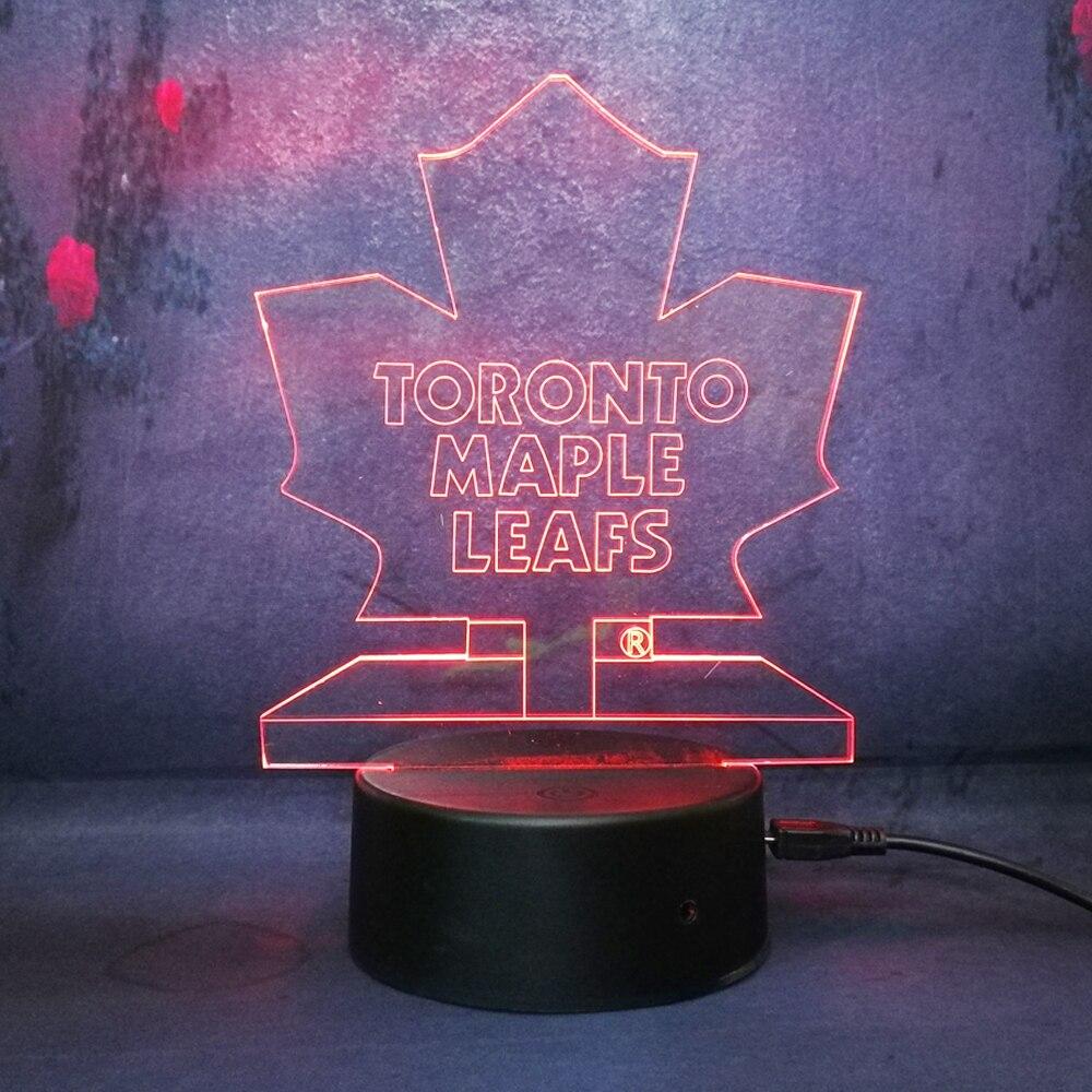 size 40 aa2b5 2731f NHL Ice Hockey Toronto Maple Leafs LED Neon Light Sign home ...