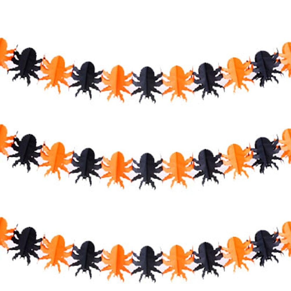 1 Set Hanging Paper Halloween Supplies Ghost Pumpkin Bat