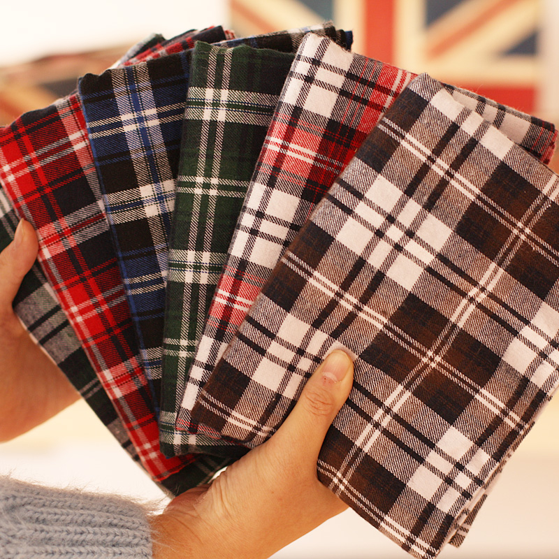 50x145cm Big Flannel Plaid Thick Cotton Sewing Fabric for ...